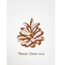 Christmas with pine cone vector