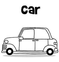 Collection transport of car hand draw vector