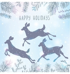deer and Christmas tree vector image