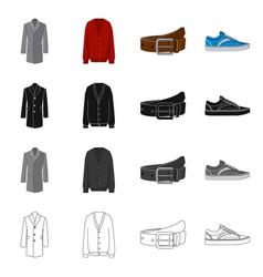 Design man and clothing logo collection vector