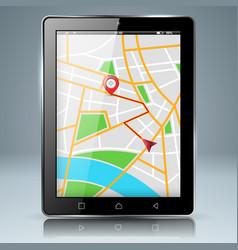digital gadget smartphone tablet maps icon vector image