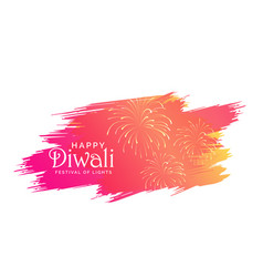 diwali background made with pink paint brish vector image