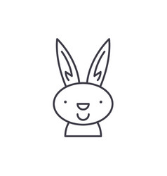 easter bunny line icon concept easter bunny vector image