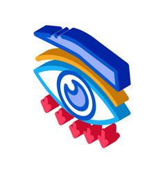 Eyelid plastic surgery isometric icon vector