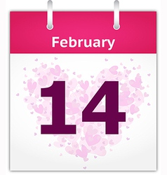 February 14 vector image