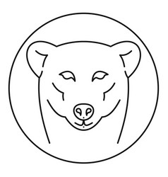 female polar bear logo outline style vector image