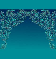 floral oriental ethnic frame vector image