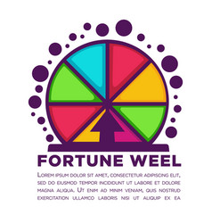 Fortune wheel made of colorful segments with vector