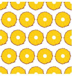 fruit seamless pattern pineapple slices on white vector image