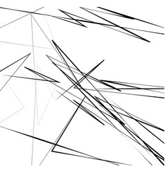 geometric art with random chaotic lines abstract vector image
