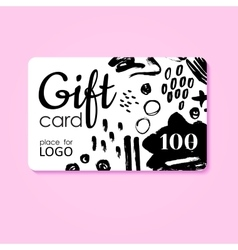 Gift Card business discount template with vector