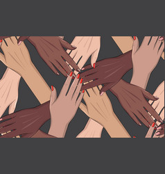 girls power 8 march support black vector image