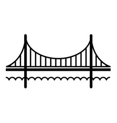 Golden gate bridge icon simple black style vector