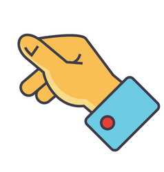 hand holding concept line icon editable vector image