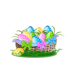 happy easter colorful vector image