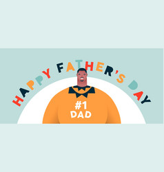 happy fathers day banner best dad cartoon vector image