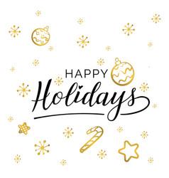 happy holidays beautiful greeting card vector image