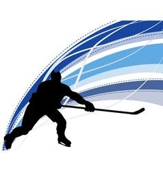 hockey background vector image