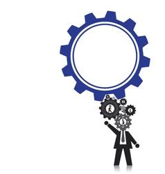 Human gear design vector