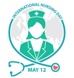 international nursing day symbol logo concept vector image