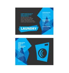 Laundry banner design vector