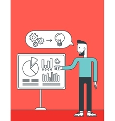 Man presenting business report vector image
