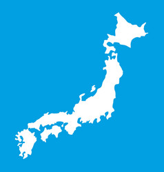 map of japan icon white vector image