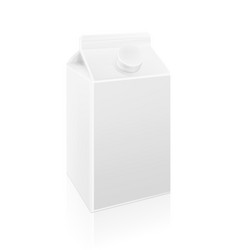 milk blank carton box template vector image