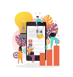 Mobile apps for business concept vector