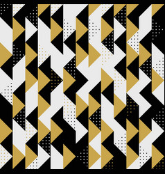 modern triangle colors gold black dots pattern vector image
