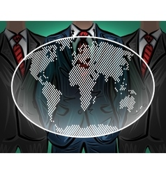 Network international worldwide business team vector image