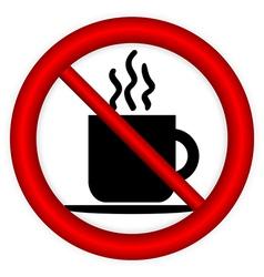 No coffee cup sign vector image
