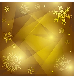 olive christmas background with white snowflakes vector image