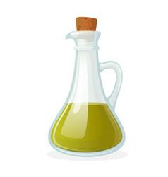 Olive oil bottle glass bottle with long narrow vector