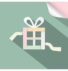 Paper Retro Gift Box Present Box on Retro vector image