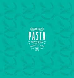 Pasta label and frame with pattern vector