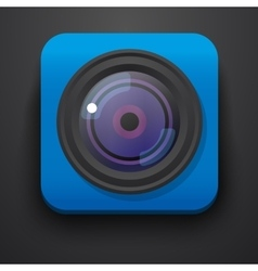 Photo camera symbol icon on blue vector