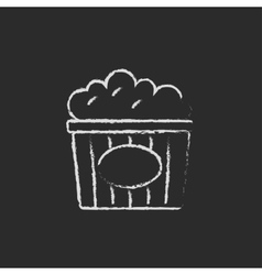 Popcorn icon drawn in chalk vector image