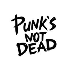 Punk rock collection s not dead monochrome vector