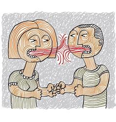 Quarrel between man and woman conceptual vector