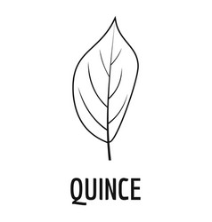 quince leaf icon simple black style vector image