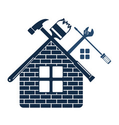 Repair and maintenance home symbol vector
