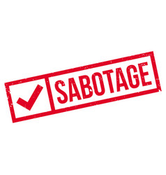 Sabotage rubber stamp vector