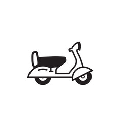 scooter black and white simple icon vector image