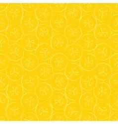 Seamless pattern slice of banana vector