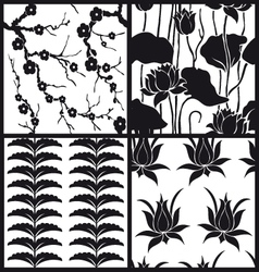 set chinese patterns vector image