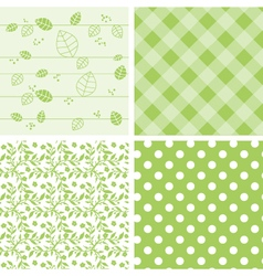 Set of green background vector