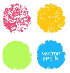 Set of hand color circles vector