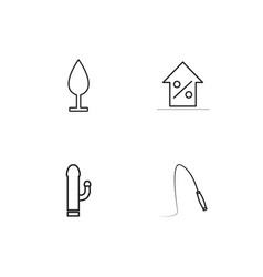 sex icons set vector image