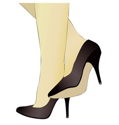 Shoes and legs of a woman 2 vector